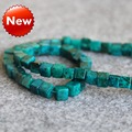 For Necklace 4mm Natural Blue Azurite Chrysocolla Beads Jade Jasper Torus Women Girls Gifts 15inch grain Jewelry Making Design
