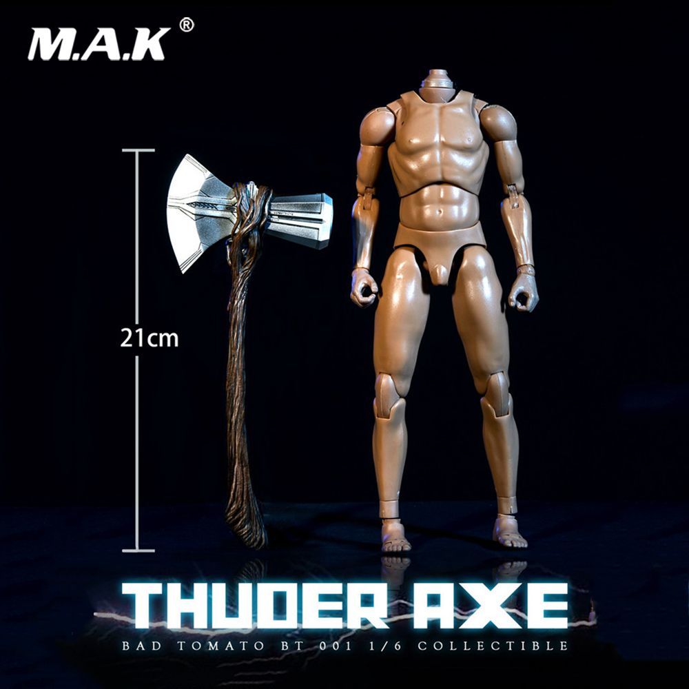 21 cm 1/6 Soldat Scène Accessoires Avengers: infinity Guerre BT001 Thunder Hache Avec lumière led Stormbreaker Modèle pour 12 ''Figure