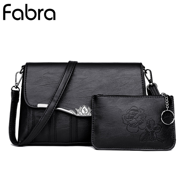 Fabra Fashion Women Messenger Bags Black Casual Clutches Small Bag Mini  CrossBody Shoulder Bags Envelope Casual Tote 2Pcs Lot 66975adc3a5d3