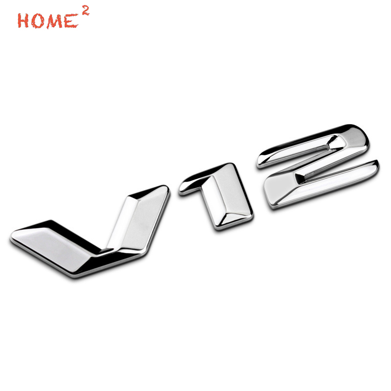 High-end Metal Body Sticker Car Styling Auto Exterior Emblem Badge Decal for V12 Logo for BMW E34 E30 F10 F30 330i 530i 525i E63 auto car motorcycle metal 3d alienware alien head ufo badge emblem decal sticker