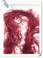2meters long 3 layer Burgundy OSTRICH FEATHER BOA/scarf/strip feather boas natural ostrich plumes for Party/Costume/Shawl/Crafts