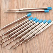 1/5PC metal Ballpoint pen refills Office school stationery gifts pen DIY luxury refills pen Blue ink sale Promotional PEN Gift(China)