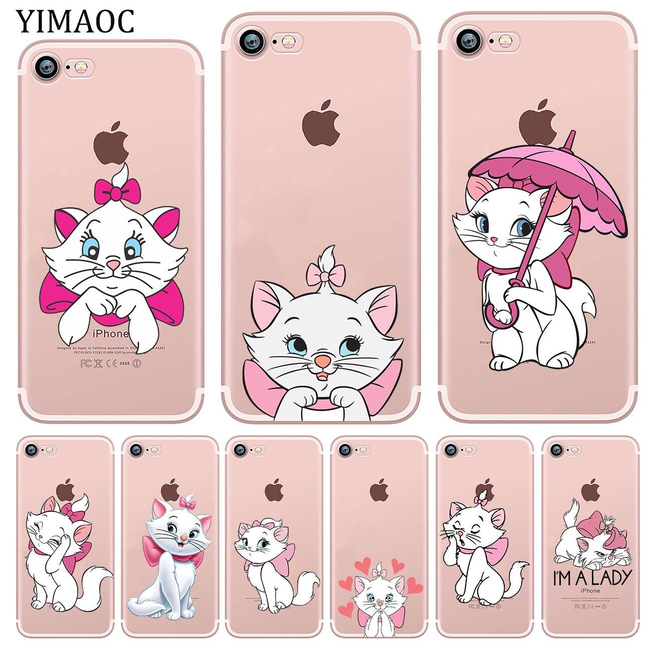 YIMAOC le dessin anim aristochats Marie chat coque de t l phone en Silicone souple tui