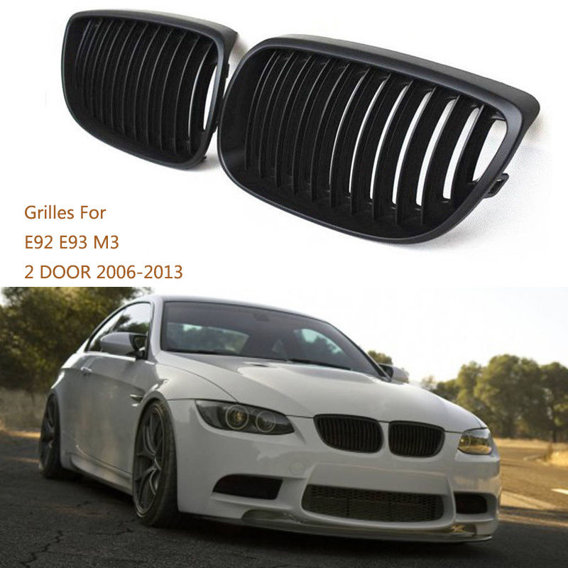 Matte Black Front Bumper Kidney Sport Grille Grill Fit for BMW E92 E93 M3 Coupe 2006