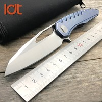 LDT Sigil Tactical Folding Knife D2 Blade Steel Handle Ball Bearing Survival Knives Hunting Outdoor Utility