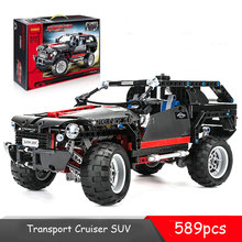 2016 POP King Steerer Transport Cruiser SUV Technic Truck Model Building Blocks Racing Car Bricks Toys Compatible Legoelied