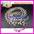1/5/10pcs Nice Color Glass Beaded Eyeglass Sunglasses Eyewear Spectacle Chain Cords Lanyard free shipping L857