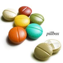1 pc Mini Pillbox Travel Portable Small Circle Kit Pill Case Medicine Box Storage Dispenser Holder Random Color RP2