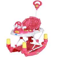 BBH 3290E baby walker multi function with music variable rocking horse children 8 wheels multi function anti rollover