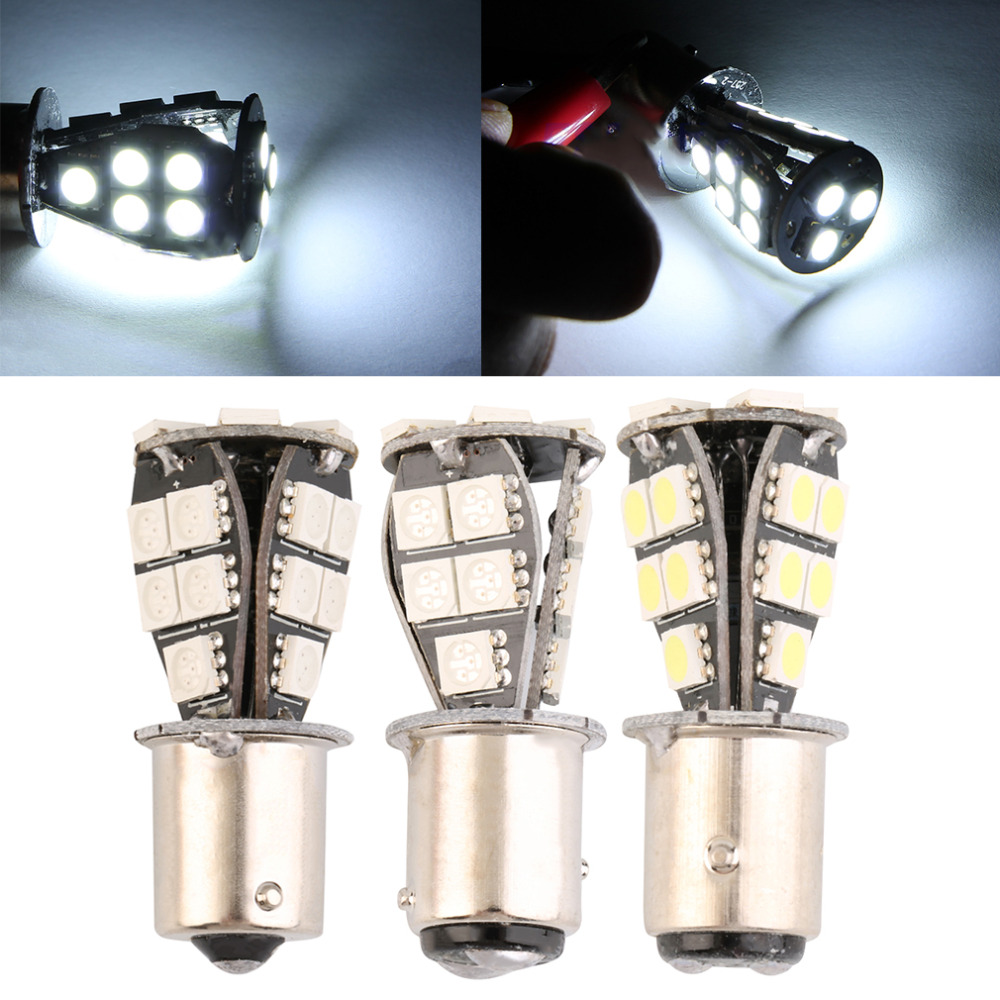 Automobiles 1157 21 SMD ba15D led car bulbs canbus No Error py21w Lamp External Lights Car Light Source 12V Red White Yellow