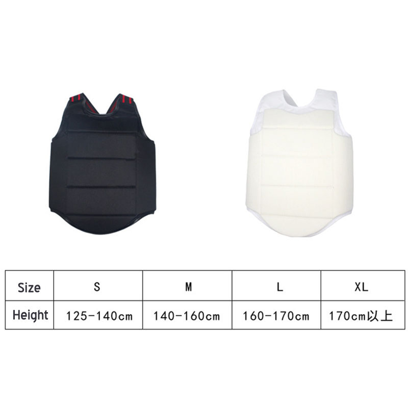 YS02 Adult Child Taekwondo Karate Chest Guard Vest Boxing Karate Breast Protector Karate Chest Protection Equipment-in Other Fitness & Bodybuilding Products from Sports & Entertainment    2