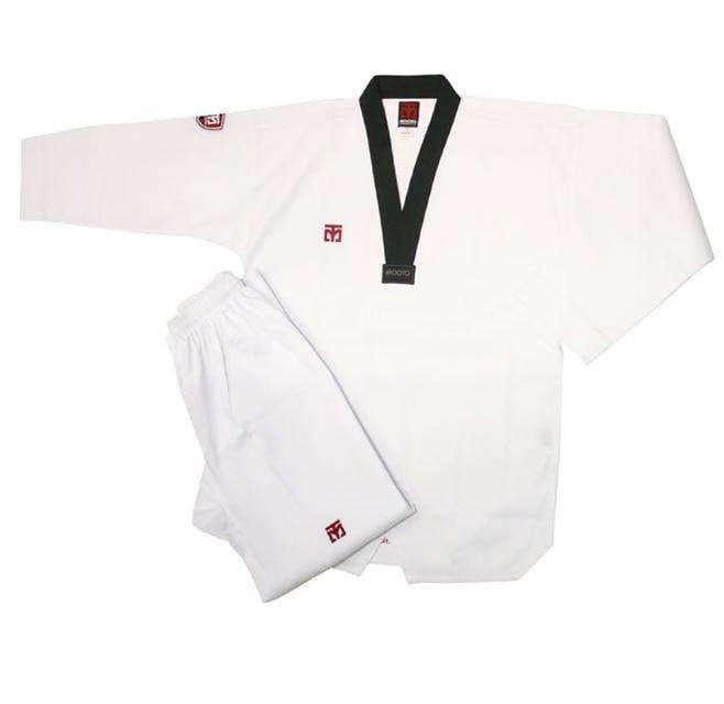 цена на Taekwondo uniform Mooto basic Taekwondo adult black collar and red and black collar children clothes tae kwon do dobok 110-200cm