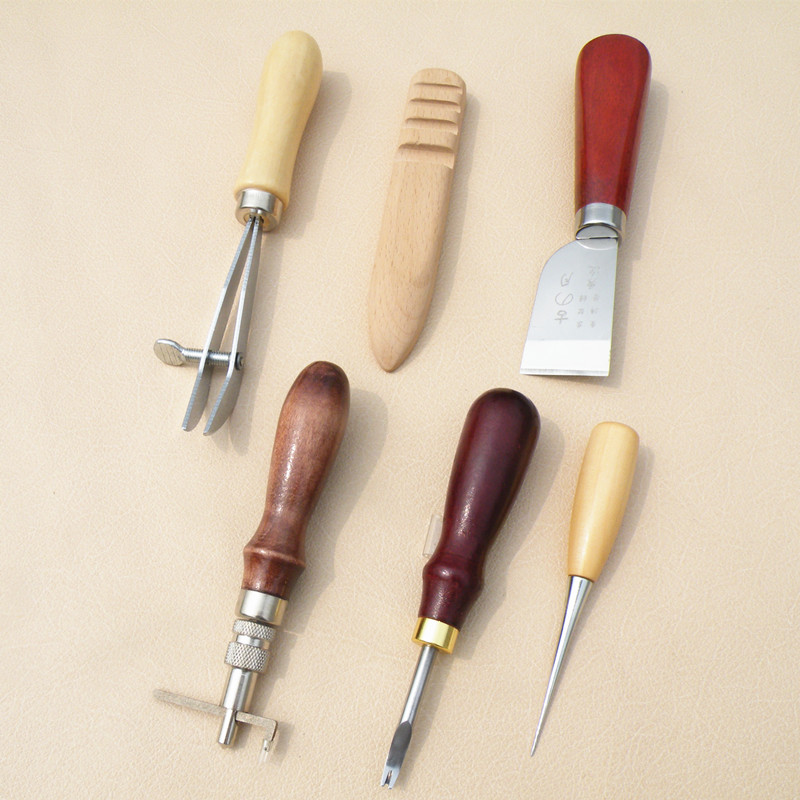 Sandalwood Stitching Groover Leather craft Edge Skiving Beveler Leather DIY Tool