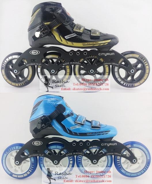 Cityrun inline speed skating sepatu Profesional sepatu roda anak dewasa  dengan Peduli kecepatan meluncur roda 3d6928d716