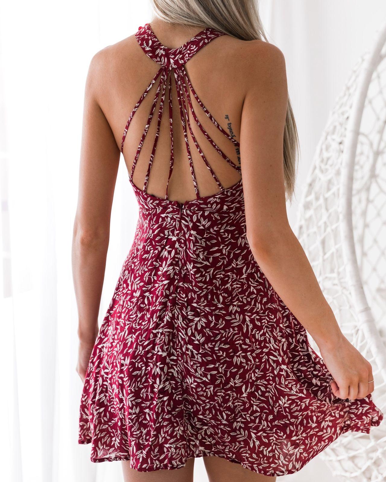 Short Halter Summer Dresses