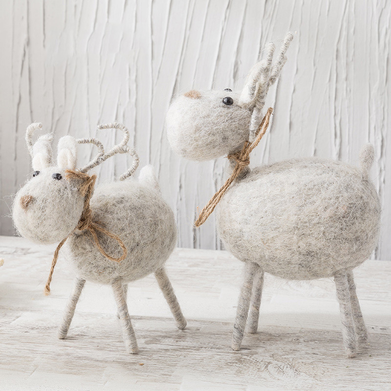 Kids Plush Toy Cute Cartoon Deer Sheep Stuffed Animals Nordic Baby Room Decoration Ornaments Kawaii Christmas Gift For Children welcome customer apron sheep alpaca maid servant plush toy stuffed doll gift for baby kids children girlfriend baby present