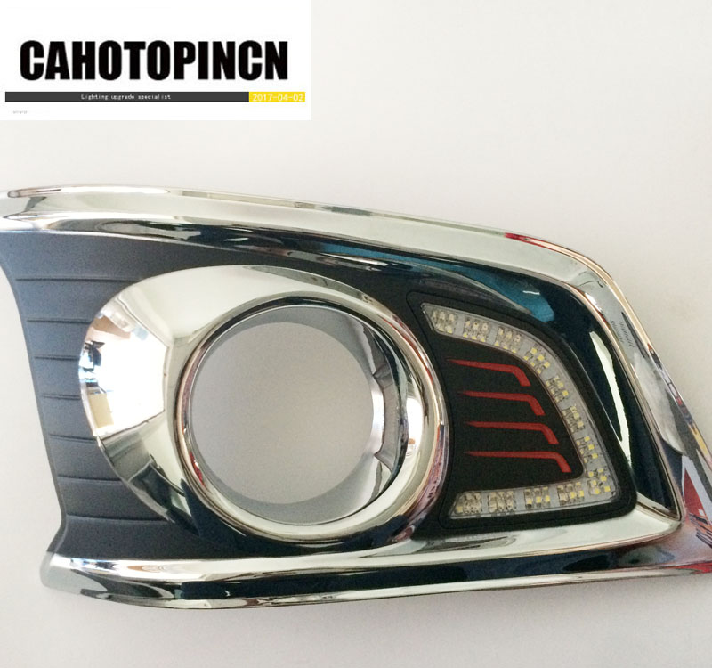 12V LED car drl Daytime Running Lights accessories For TOYOTA HILUX TOYOTA HILUX VIGO revo CHAMP