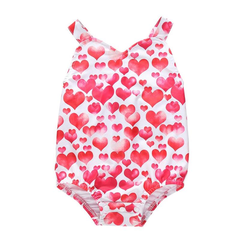 Kids Bathing Suits Girls Baby Swimwear Children Girls One-Piece Swimwear Suits Hearts Print Beachwear Romper Baby Girl Swimwear
