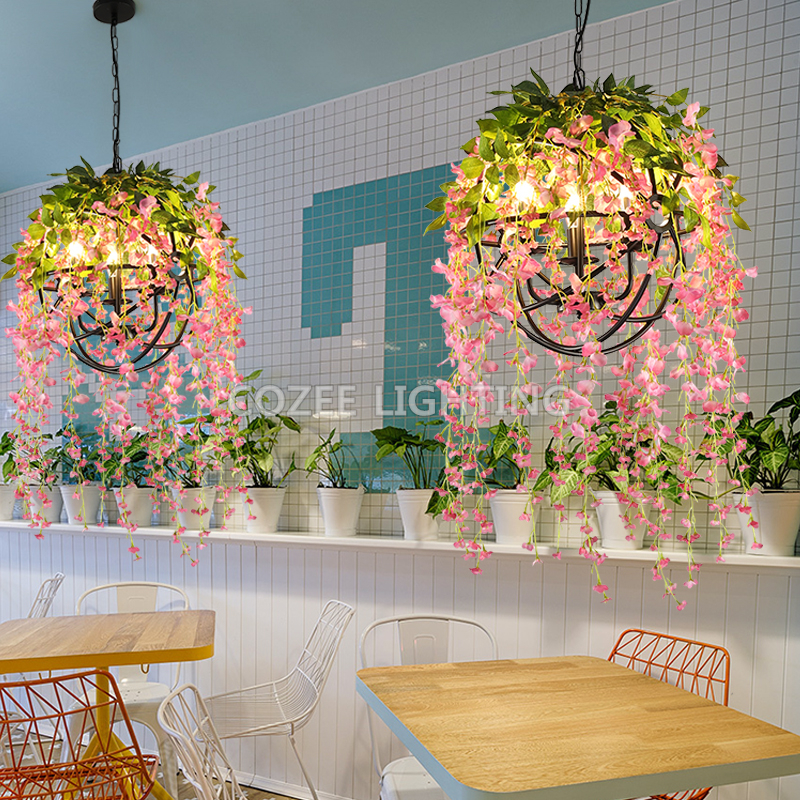 цены Vintage Retro Chandelier Lighting Flower Chandelier Light Restaurant Hanging Lamp Living Dining Room Chandelier Light Fixture