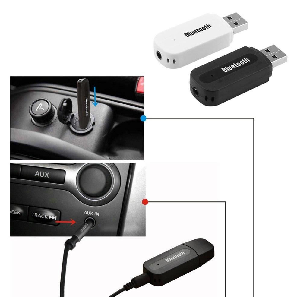 EDR Adaptor Audio Music Receiver Tool Car Vehicles 3.5mm AUX USB Bluetooth 2.1