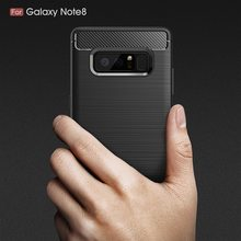 UTOPER Case For samsung Galaxy Note 8 Case Cover Silicone Carbon Fiber Soft Cover For Galaxy Note 8 Case For samsung Note 8 Case