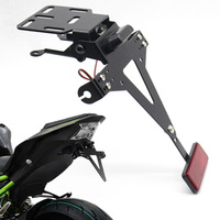 Motorbike Adjustable Angle License Number Plate Holder Bracket For Kawasaki Z650 Z900 Z800 Z1000 Z1000SX Z250 Z300 Z125
