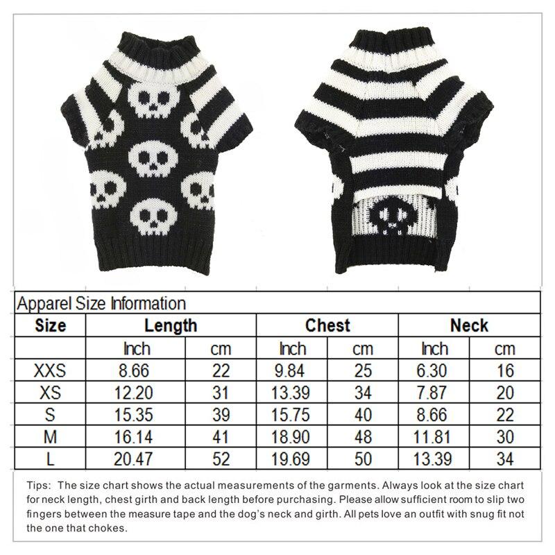 Halloween cráneo suéter del perro negro blanco ropa para mascotas ...