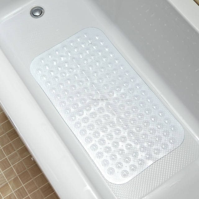Free Shipping Clear Bath Mat Bathroom Slip Resistant Pad Plastic Mats Slip Resistant Shower Room