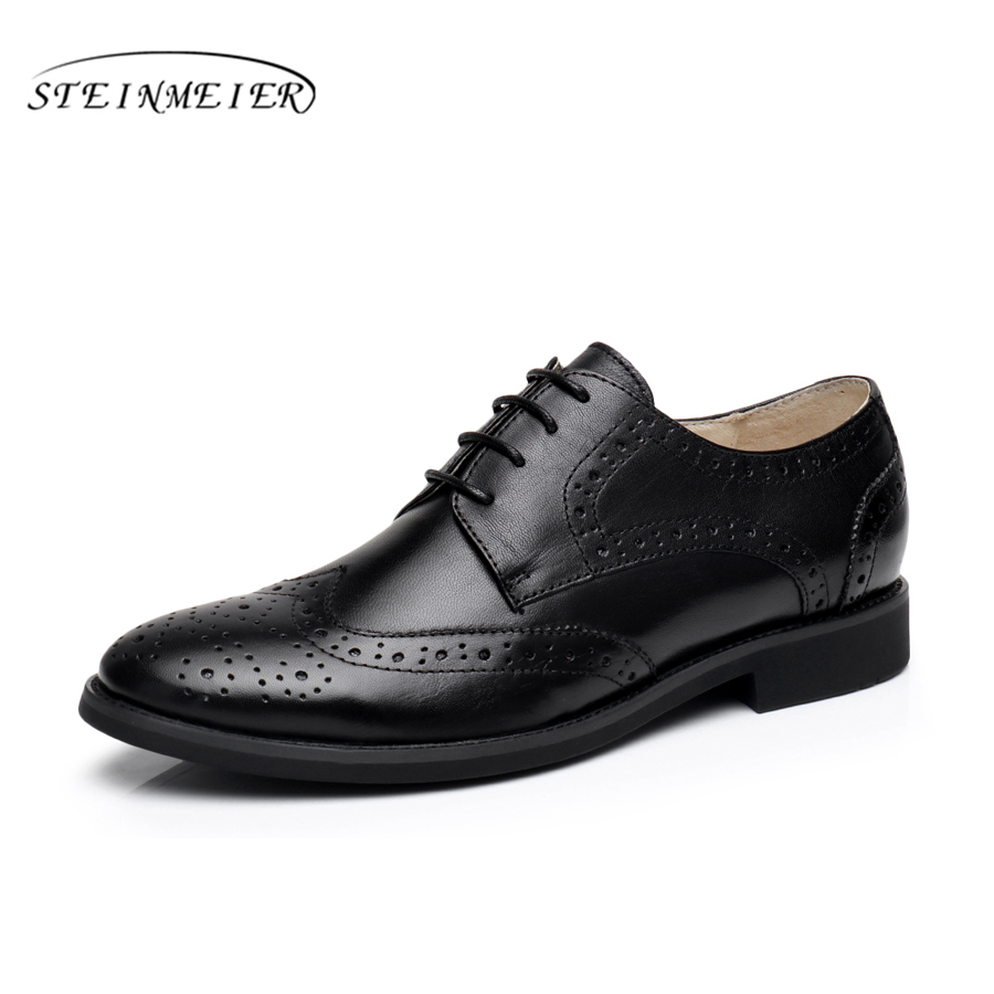 Genuine leather woman size 9 designer yinzo vintage flat shoes round toe handmade black grey oxford shoes for women 2017 genuine leather woman size 9 designer yinzo vintage flat shoes round toe handmade black grey oxford shoes for women 2017