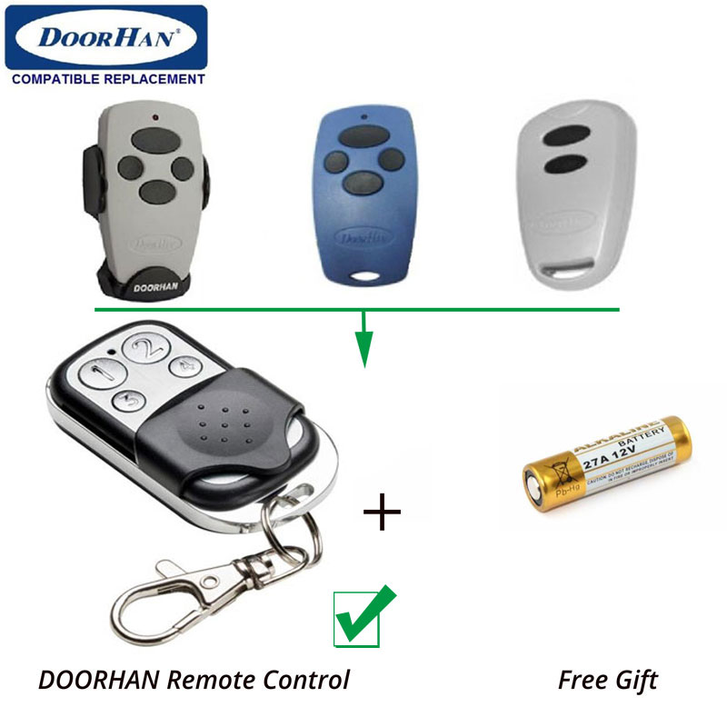 50pcs Wholesale price Doorhan Transmitter2 Transmitter Rolling Code Comaptible Gate Door Radio Control Easy Program цены онлайн
