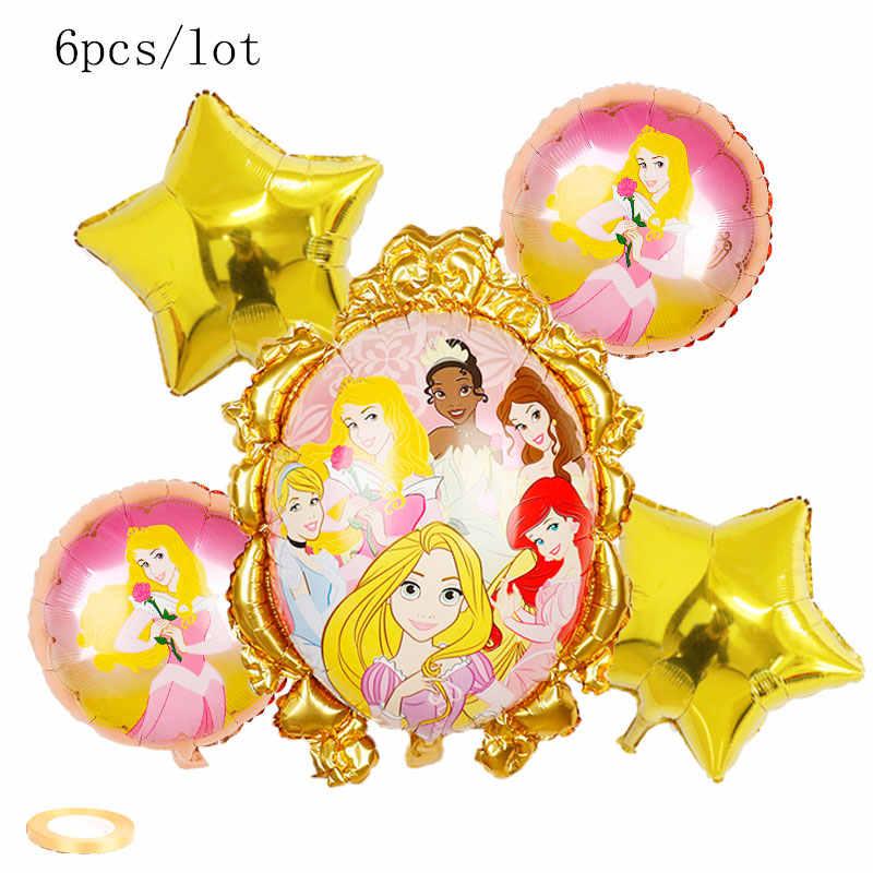 1 zestaw urodziny Elsa Anna księżniczka balony dekoracja urodzinowa Disney księżniczka zestaw balonów wysokiej jakości