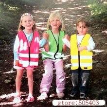 Детский жилет безопасности Hi Vis детский светоотражающий жилет-зеленый розовый желтый