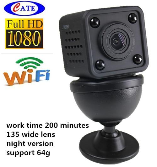 imágenes para CWC001HQ9 1080 P HD wifi ip de seguridad seguridad en el hogar cámara de trabajo 200 minutos 135 soporte versión nocturna de la lente ancha 64G