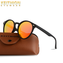 KEITHION 2019 New Vintage Retro Polarized Men Womens Sunglasses Round Mirrored Sun Glasses Fashion UV400 Eyewear