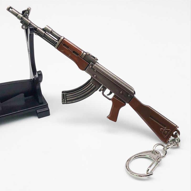 11 سنتيمتر PUBG 7.62 مللي متر بندقية سلاح AKM نموذج AK 47 اللعب بندقية llaveros شافيرو sleutelhang تابانكا AK47 سلاسل المفاتيح