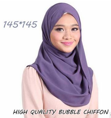 145*145cm square size bubble chiffon shawls hijab summer nice headband wrap muslim kerchief scarves/scarf