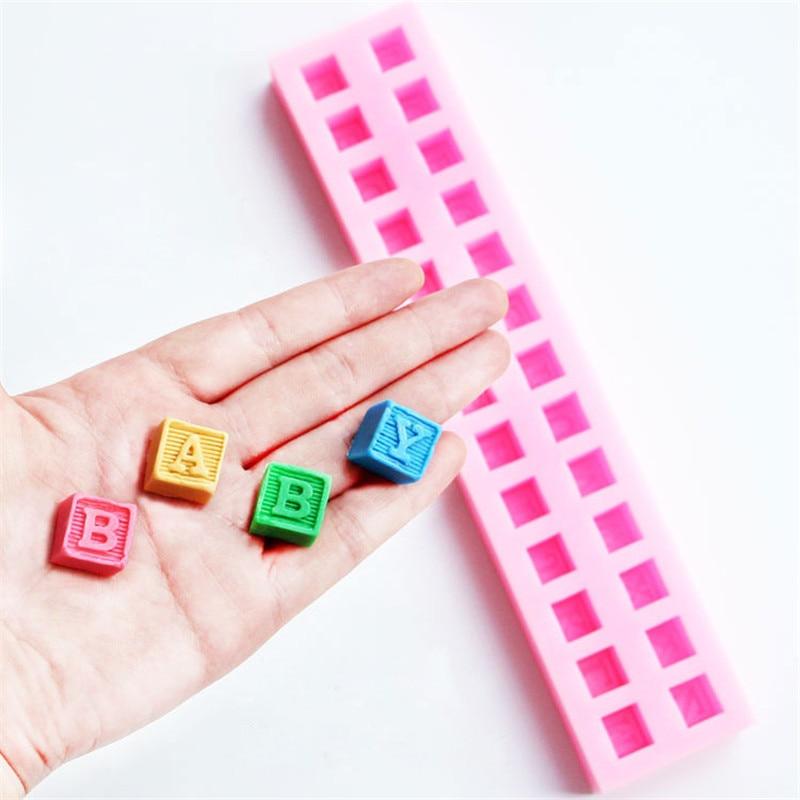 Инструменты для выпечки тортов своими руками, силиконовые английские буквы, 3D Алфавит, строительный блок, форма для помадки, торта, шоколада...