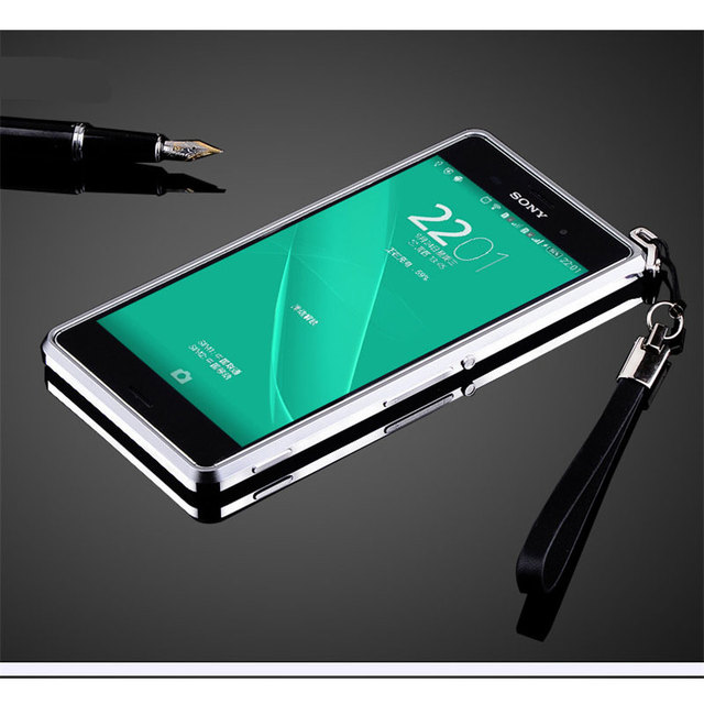 new product cf925 804eb US $7.98 |Luxury Aluminum Metal Bumper Frame for Sony Xperia Z3 Ultra Thin  Armor Case Cover Screw Secured-in Phone Bumper from Cellphones & ...