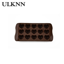 ULKNN Heart Chocolate Mould Food Grade Platinum Silicone Baking Tools Heat-Resisting Suffer Freeze