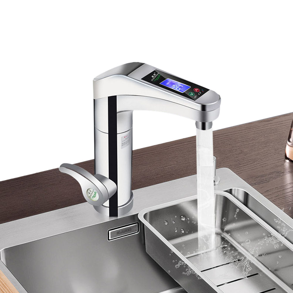 500 3500W Rotable Water Faucet Instant Electric Faucet Hot Cold Water Heater in Kitchen Faucets from Home Improvement