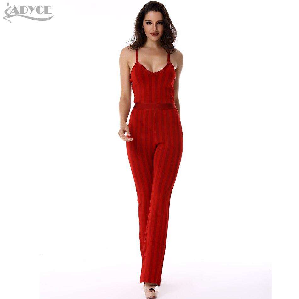Partido Cuello Espagueti V De Rojo Las Vendaje Mono Celebridad Mamelucos Correa Del Los Nuevo Verano Mujeres 2018 wOCTRqZp