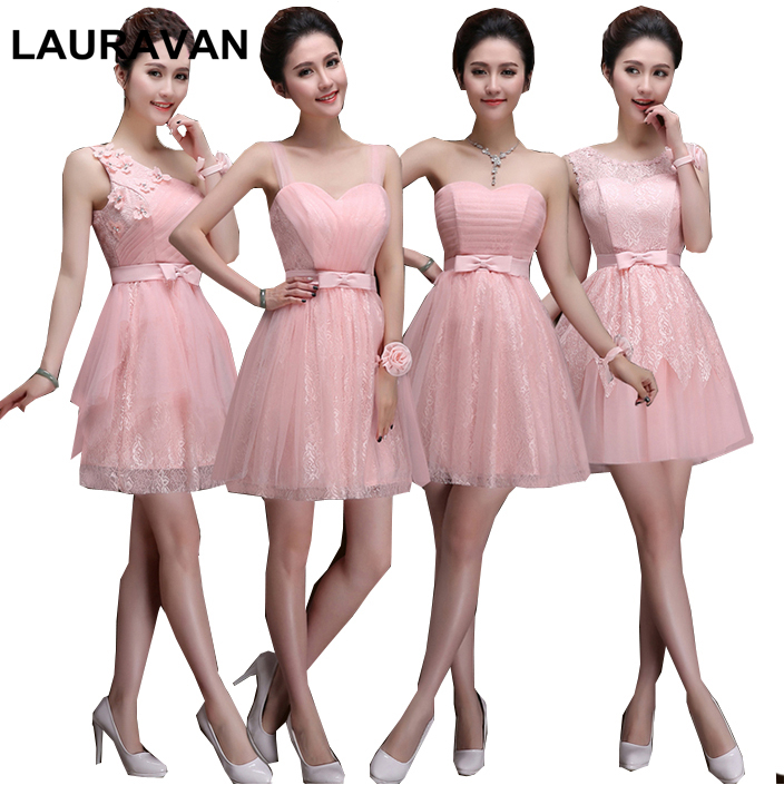 Light Pink Princess Bridesmaid Robes Dress Adult Special Occasion Girls Beautiful Bridemaids Dresses For Party 2019 Ball Gown