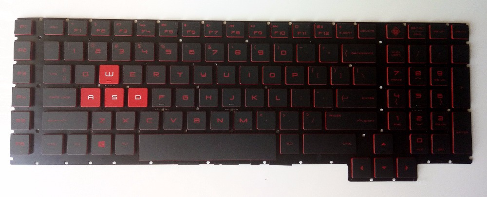 New For HP Omen 17-an011dx 17-an012dx 17-an013dx 17-an053nr series laptop US English Keyboard with backlit red Letters new us keyboard for acer aspire vn7 793g vx5 591g vx5 591g 52wn us laptop keyboard with backlit