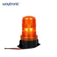 10 110V Forklift Truck Warning Alarm Light Waterproof Flashing Rotating Amber LED Beacon Strobe Light with 4 Flash Modes