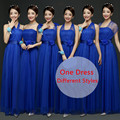 Azul Royal Da Dama de honra Vestidos Longos Strapless Barato Menos de 30 do baile de Finalistas Vestido de festa Rosa Quente Vestido De Noiva vestido de Festa Longo Elegante adolescentes