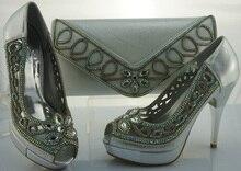 Mode African Schuh Und Tasche Set Für Partei Italienischen Schuh Mit passende Tasche Neue Design Damen Passende Schuh Und Tasche Italien ME1102