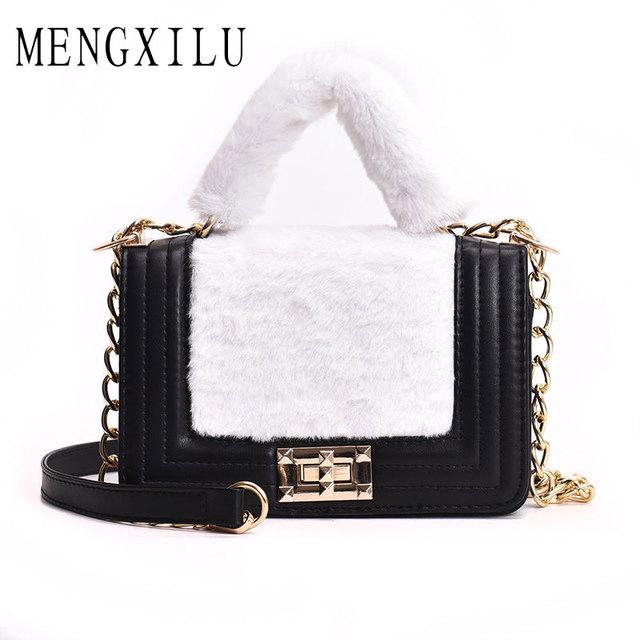 802a64fbfd 2018 New Women Messenger Bags Luxury Handbags Women Bags Designer Chain  Shoulder Bag Fashion Shoulder Females