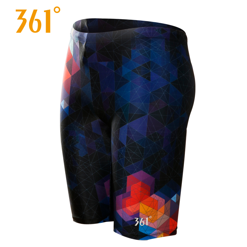 361 Men's Professional Sports Swimming Trunks Breathable Quick Drying Pool Swimming Shorts Elastic Competition Swim Trunks Suits