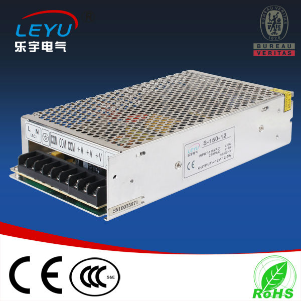 Compact size suitable for LED lighting Single output AC DC 150w power converter compact