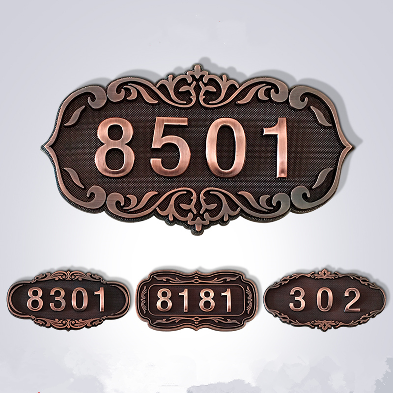 ABS European door number sticker Antique copper House Number sign 3 to 4 Numbers Customized for hotel Apartment Villa doorABS European door number sticker Antique copper House Number sign 3 to 4 Numbers Customized for hotel Apartment Villa door